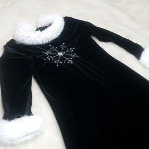 Girls Velour Dress Snowflake Dress Size 8